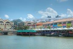 Αποβάθρα Clarke, Σινγκαπούρη Στοκ φωτογραφία με δικαίωμα ελεύθερης χρήσης