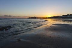 Αποβάθρα Hastings στο ηλιοβασίλεμα Στοκ εικόνες με δικαίωμα ελεύθερης χρήσης