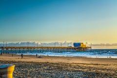 Αποβάθρα Newport Beach στο ηλιοβασίλεμα Στοκ Εικόνες