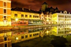 Αποβάθρα Perriere, Annecy, Γαλλία Στοκ Φωτογραφίες