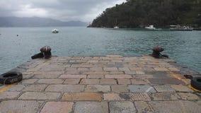 Αποβάθρα Portofino Ιταλία απόθεμα βίντεο