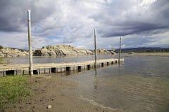 Αποβάθρα Prescott Αριζόνα βαρκών λιμνών ιτιών Στοκ Εικόνες