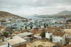 Αποβάθρα Pucusana, Περού Στοκ Φωτογραφίες
