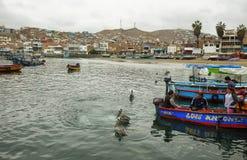Αποβάθρα Pucusana, Περού Στοκ Εικόνες