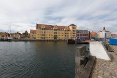 Αποβάθρα Svendborg πορθμείων Στοκ Φωτογραφίες