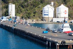 Αποβάθρα Waitohi, Νέα Ζηλανδία στοκ φωτογραφία