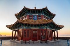 Αποβάθρα Zhanqiao στην ανατολή, Qingdao, Shandong, Κίνα στοκ φωτογραφία
