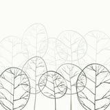 Αποβαλλόμενο δάσος στην ομίχλη διανυσματική απεικόνιση