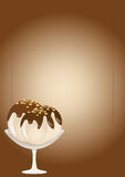 αποβουτυρώστε sundae πάγου το διάνυσμα Στοκ φωτογραφία με δικαίωμα ελεύθερης χρήσης