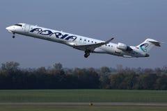 Απογείωση αεροπλάνων εναέριων διαδρόμων Adria στοκ εικόνα με δικαίωμα ελεύθερης χρήσης