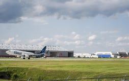 Απογείωση αεροπλάνων Transat αέρα στοκ εικόνες