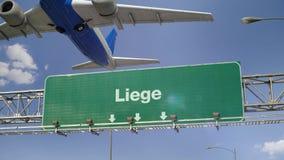 Απογείωση Λιέγη αεροπλάνων απόθεμα βίντεο
