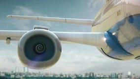 Απογείωση Μπακού Αζερμπαϊτζάν αεροπλάνων απόθεμα βίντεο
