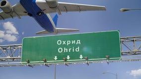 Απογείωση Οχρίδα αεροπλάνων απόθεμα βίντεο