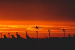 Απογείωση πρωινού στον ήλιο Στοκ Φωτογραφία