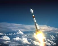 Απογείωση πυραύλων μεταφορέων Στοκ Φωτογραφία