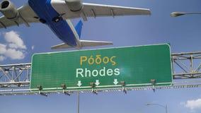 Απογείωση Ρόδος αεροπλάνων απόθεμα βίντεο