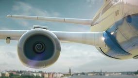 Απογείωση Στοκχόλμη Σουηδία αεροπλάνων διανυσματική απεικόνιση