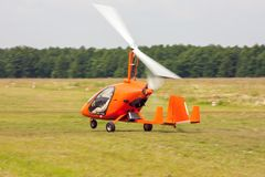 Απογείωση του gyroplane Στοκ εικόνες με δικαίωμα ελεύθερης χρήσης