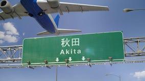 Απογείωση Akita αεροπλάνων απόθεμα βίντεο