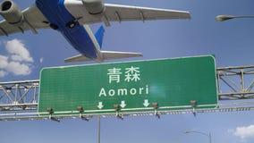 Απογείωση Aomori αεροπλάνων απόθεμα βίντεο