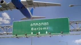 Απογείωση Borjomi αεροπλάνων απόθεμα βίντεο