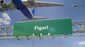 Απογείωση Figari αεροπλάνων απόθεμα βίντεο