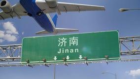Απογείωση Jinan αεροπλάνων απόθεμα βίντεο
