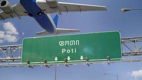 Απογείωση Poti αεροπλάνων απόθεμα βίντεο