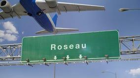 Απογείωση Roseau αεροπλάνων απόθεμα βίντεο