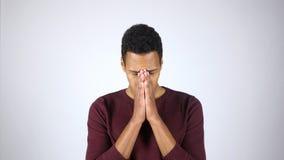 Απογοήτευση, πίεση, ένταση, χειρονομία από το νέο αφροαμερικανός άτομο Στοκ Φωτογραφία