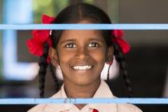 Αποδεικτική εκδοτική εικόνα Παιδί στο σχολείο Στοκ Εικόνες