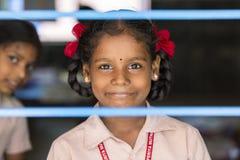 Αποδεικτική εκδοτική εικόνα Παιδί στο σχολείο Στοκ Φωτογραφία