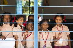 Αποδεικτική εκδοτική εικόνα Παιδί στο σχολείο Στοκ εικόνες με δικαίωμα ελεύθερης χρήσης