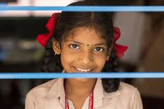 Αποδεικτική εκδοτική εικόνα Παιδί στο σχολείο Στοκ εικόνα με δικαίωμα ελεύθερης χρήσης