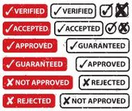 Αποδεχθείτε το σύνολο γραμματοσήμων απορριμάτων ελεύθερη απεικόνιση δικαιώματος