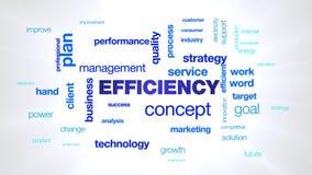Αποδοτικότητας έννοιας διοίκησης επιχειρήσεων ποιοτικής στρατηγικής τεχνολογίας απόδοσης επιτυχίας αποδοτικός που ζωντανεύει επαγ ελεύθερη απεικόνιση δικαιώματος