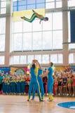 Αποδόσεις επίδειξης perfor επίδειξης των ακροβατών στα championmances των ακροβατών στο πρωτάθλημα Στοκ Εικόνα