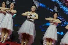 Αποδόσεις χορευτής-τραγουδιού και χορού Στοκ Εικόνες