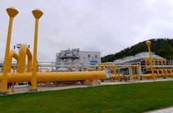 Αποθήκευση αερίου και σωλήνωση σε Ihtiman, Οκτώβριος της Βουλγαρίας ot 13, 2015 Στοκ φωτογραφία με δικαίωμα ελεύθερης χρήσης