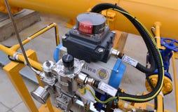 Αποθήκευση αερίου και σωλήνωση σε Ihtiman, Οκτώβριος της Βουλγαρίας ot 13, 2015 Στοκ εικόνες με δικαίωμα ελεύθερης χρήσης