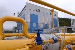 Αποθήκευση αερίου και σωλήνωση σε Ihtiman, Οκτώβριος της Βουλγαρίας ot 13, 2015 Στοκ Εικόνα