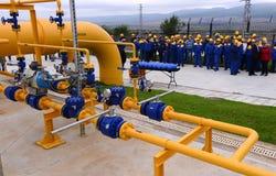 Αποθήκευση αερίου και σωλήνωση σε Ihtiman, Οκτώβριος της Βουλγαρίας ot 13, 2015 Στοκ εικόνα με δικαίωμα ελεύθερης χρήσης