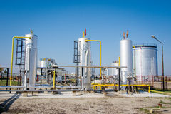 Αποθήκευση αερίου και pipelin Στοκ Φωτογραφίες