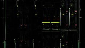 Αποθήκευση κεντρικών υπολογιστών βάσεων δεδομένων με τα φω'τα, τεχνολογική καινοτομία, φιλοξενία Ιστού στοκ εικόνες