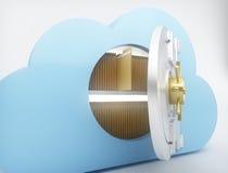 Αποθήκευση στοιχείων με την τεχνολογία υπολογισμού σύννεφων Στοκ Εικόνα