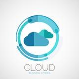 Αποθήκευση σύννεφων, λογότυπο επιχείρησης, ελάχιστο σχέδιο ελεύθερη απεικόνιση δικαιώματος