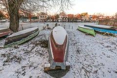Αποθήκευση των βαρκών το χειμώνα Στοκ εικόνα με δικαίωμα ελεύθερης χρήσης