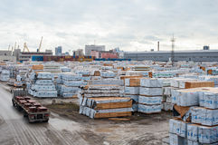 Αποθήκευση των οικοδομικών υλικών Στοκ Φωτογραφίες