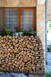 Αποθήκευση Firewoods Στοκ φωτογραφίες με δικαίωμα ελεύθερης χρήσης